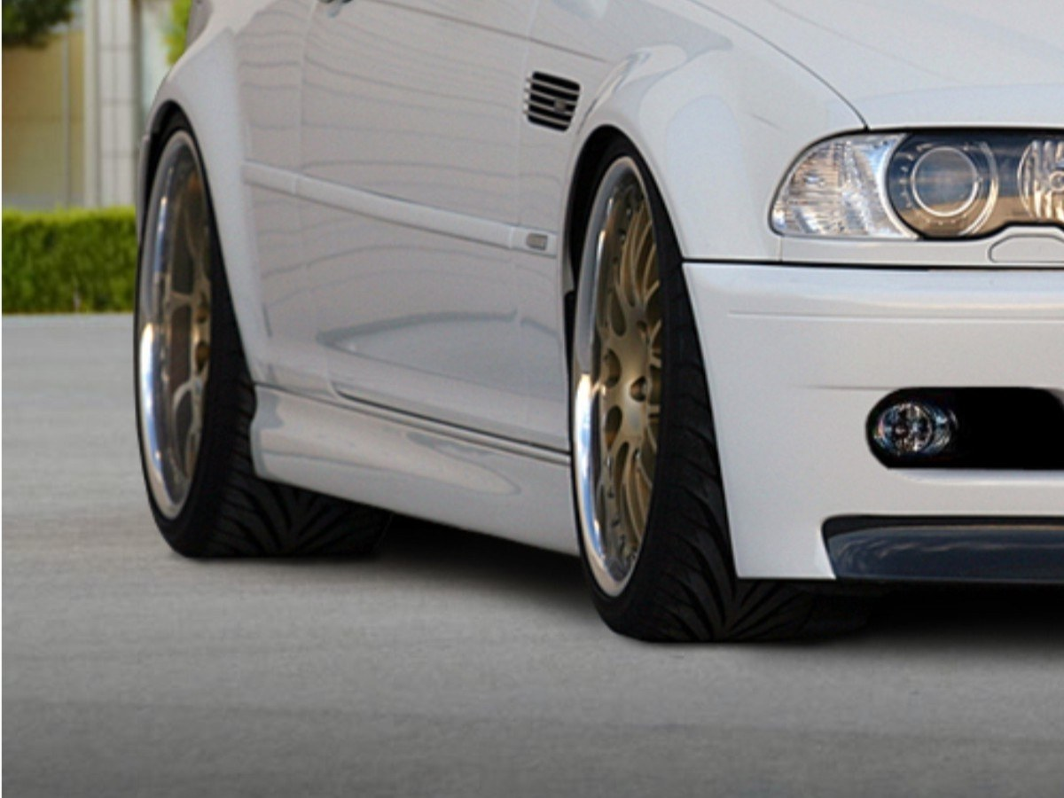 Dokładki Progów BMW 3 E46 Coupe & Cabrio < M3 Look > - GRUBYGARAGE - Sklep Tuningowy